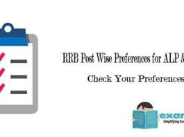 RRB Post Wise Preferences for ALP & Technician Candidates - Check Your Preferences