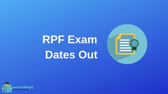 RPF Constable Exam Schedule RPF Exam Date