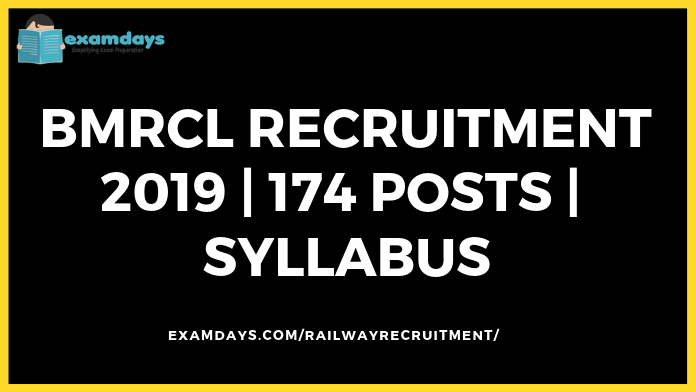 BMRCL Recruitment 2019 Notification