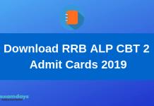 Download RRB ALP CBT 2 Admit Cards 2019-min