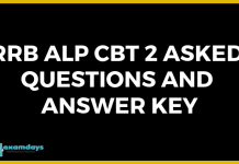 RRB ALP CBT 2 Asked Questions