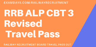 rrb alp cbt 3 revised travel pass