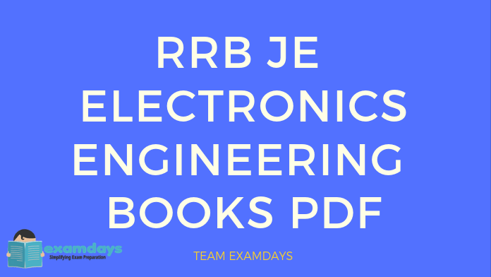 rrb je electronics engineering book