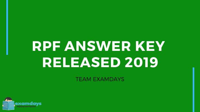 rpf si answer key
