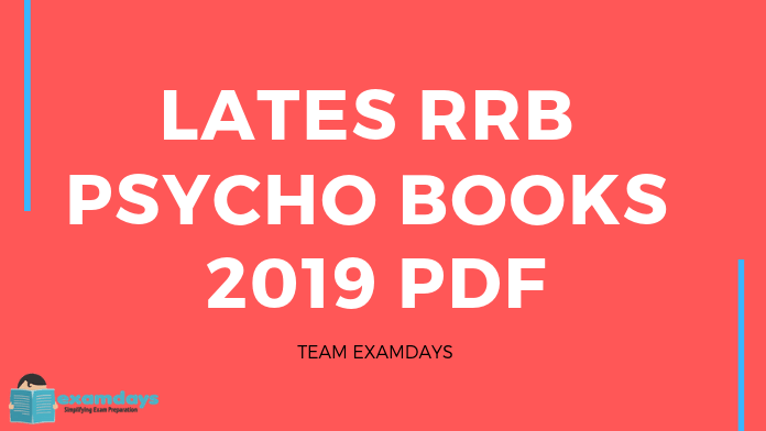 Download Latest RRB Psycho Books 2019 PDF