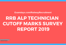 rrb alp technician cbt 2 cutoff survey