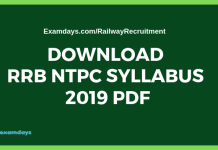Download RRB Staff Nurse Syllabus 2019 PDF - Examdays RRB