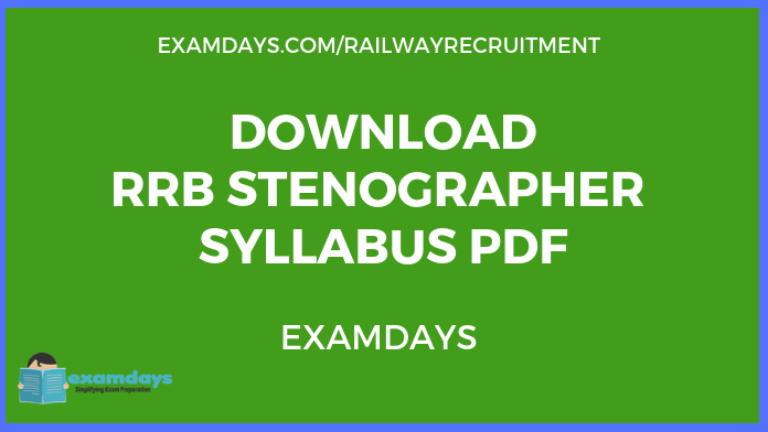 Download RRB Stenographer Syllabus PDF 2019 Ministerial Isolated Posts