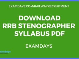 RRB Stenographer Syllabus pdf