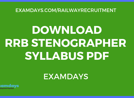 Download RRB Stenographer Syllabus PDF 2019 Ministerial