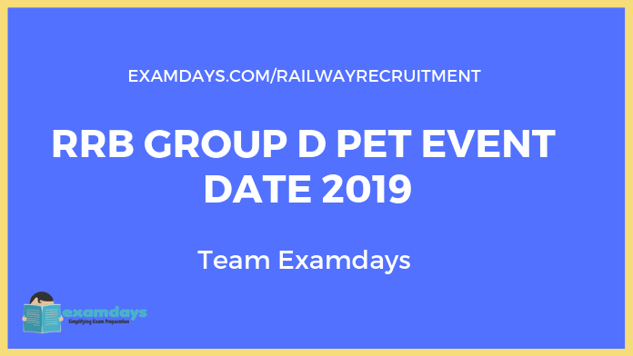 rrb group d pet event date