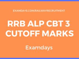 rrb alp cbt 3 cutoff marks