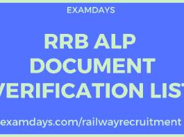 rrb alp document verification
