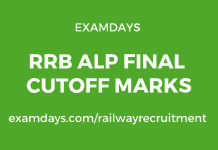rrb alp final cutoff marks