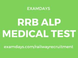 rrb alp medical test