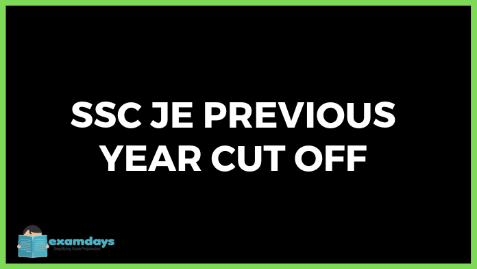 ssc je Cut off marks