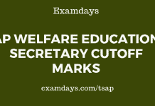 AP Welfare Education Secretary Cutoff Marks