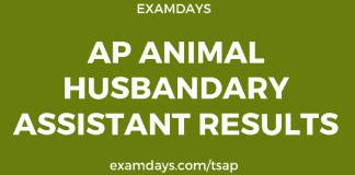 ap Animal Husbandry Assistant results