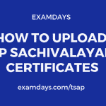ap sachivalayam certificate upload
