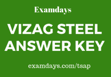 vizag steel answer key