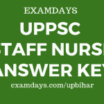 uppsc staff nurse answer key