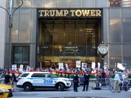 Protesters outside Trump Tower