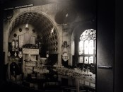 """Beautiful interior of the Essen synagogue, before Kristallnacht """"Night of the Broken Glass"""" (9-10 November 1938)."""