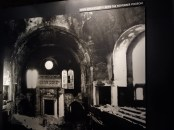 Interior of the Essen synagogue after Kristallnacht, which was a wave of violent anti-Jewish pogroms (ie, a violent riot aimed at the massacre or persecution of an ethnic or religious group).