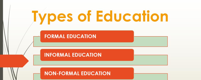 Types of Education: Formal, Informal & Non-formal