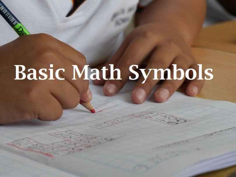 Basic Math Symbols Algebra Geometry Statistics Etc