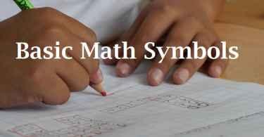 basic math symbols, algebra symbols, statistics symbols, geometry symbols