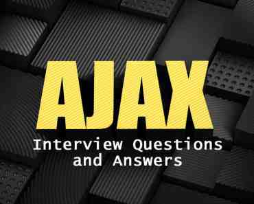 ajax-interview-questions-and-answers