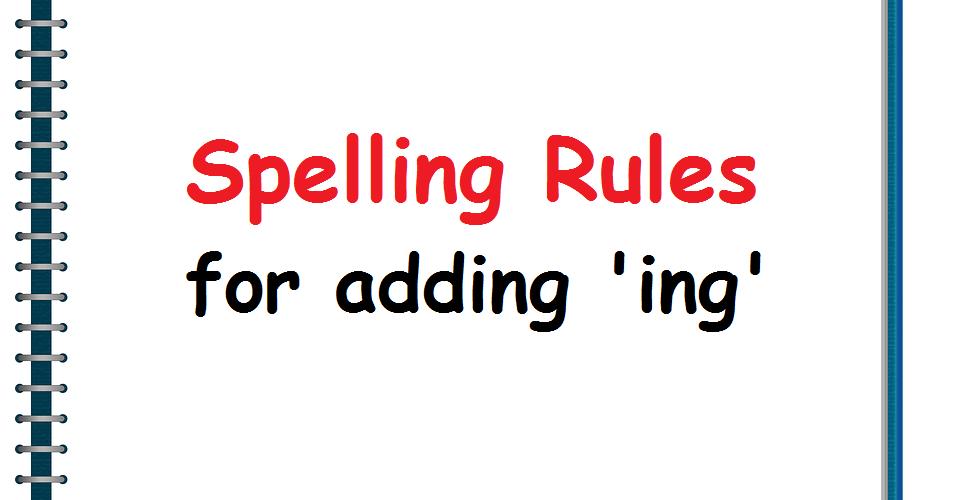 Spelling-Rule-ING