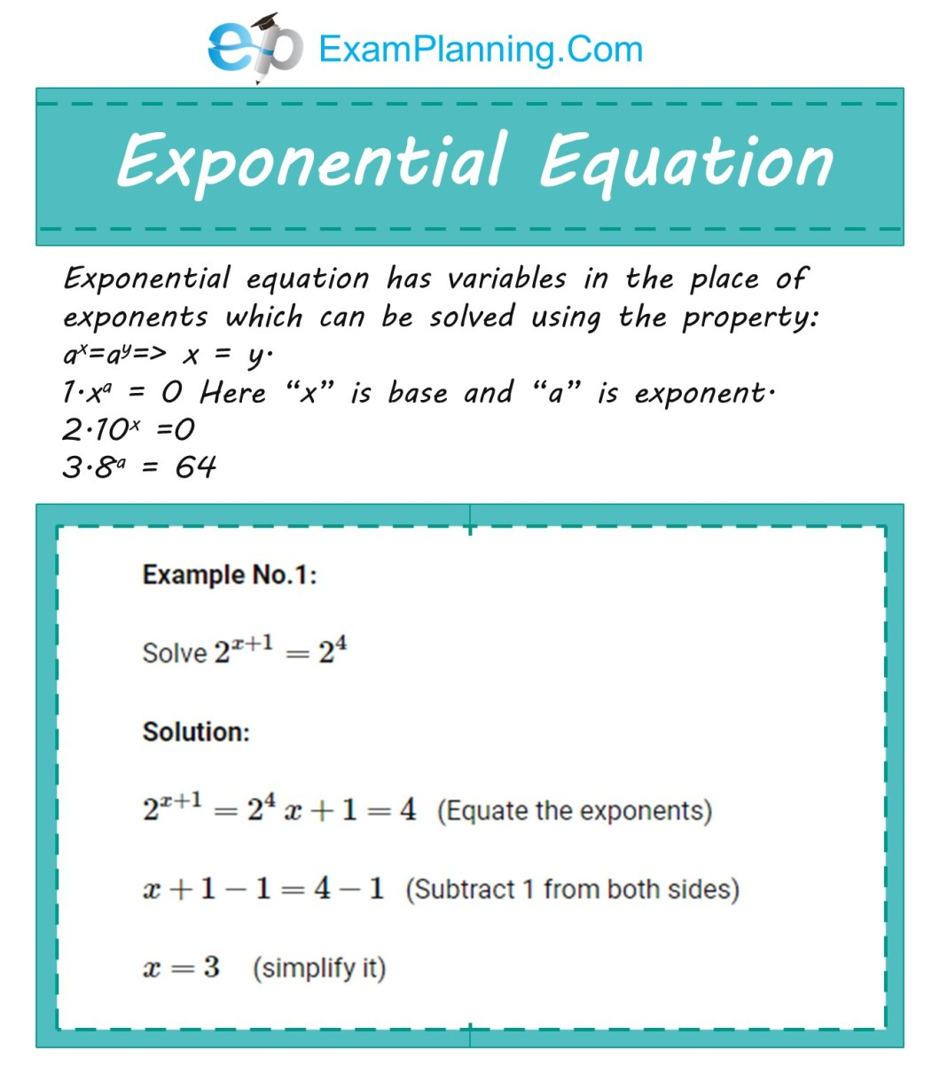 Exponential Equations Examples