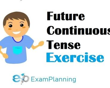 future continuous tense exercises