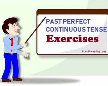 past perfect continuous tense exercise