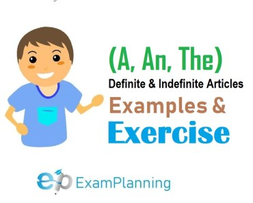 Definite and Indefinite Articles (A, An, The) Examples & Exercises