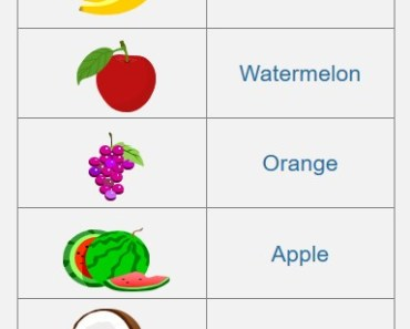 Fruit Picture Matching Worksheet