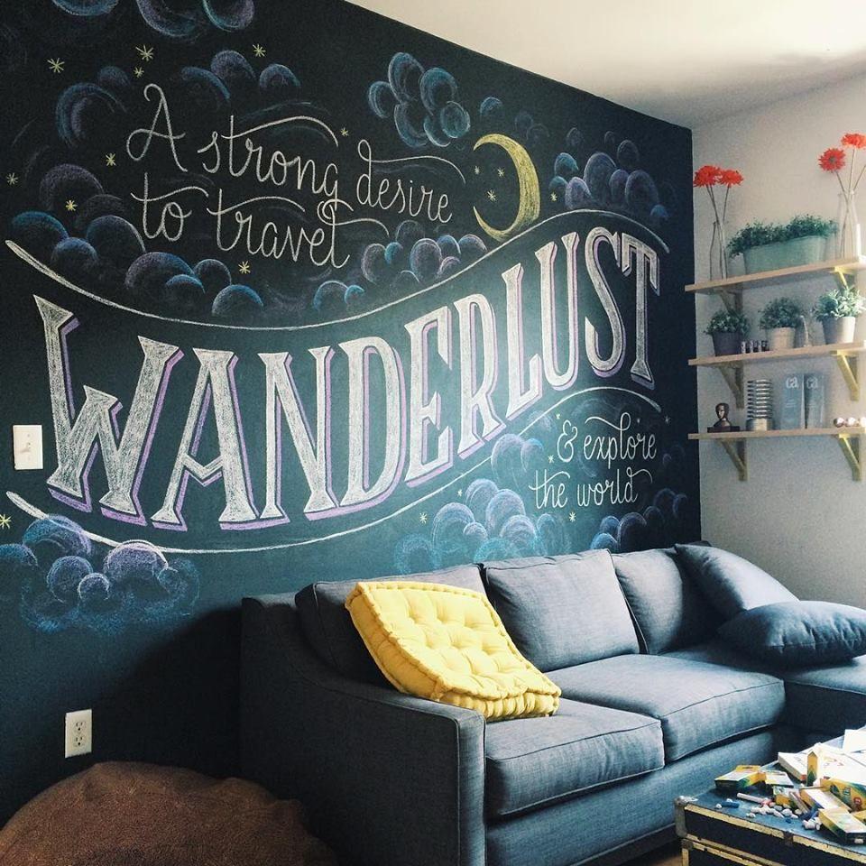 Chalkboard wall decoration