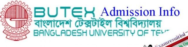butex admission www butex edu bd