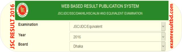 Check JSC Result 2016 online