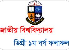 National University Degree 1st Year Result