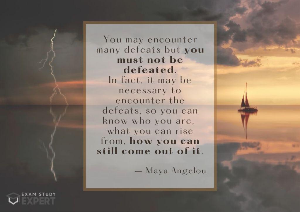 Motivational exam success quote