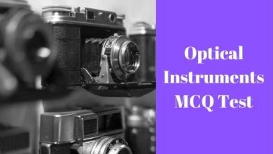 Photo of Optical Instruments MCQ Test