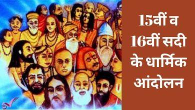 Photo of 15वीं व 16वीं सदी के धार्मिक आंदोलन