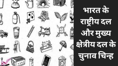 Photo of भारत के राष्ट्रीय और मुख्य क्षेत्रीय दल के चुनाव चिन्ह
