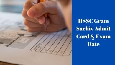 Photo of HSSC Gram Sachiv Admit Card & Exam Date 2021