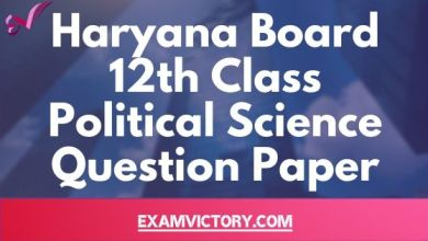 Photo of Haryana Board 12th Class Political Science Previous Year Question Paper