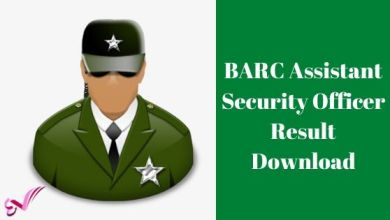 Photo of BARC Assistant Security Officer Result Download