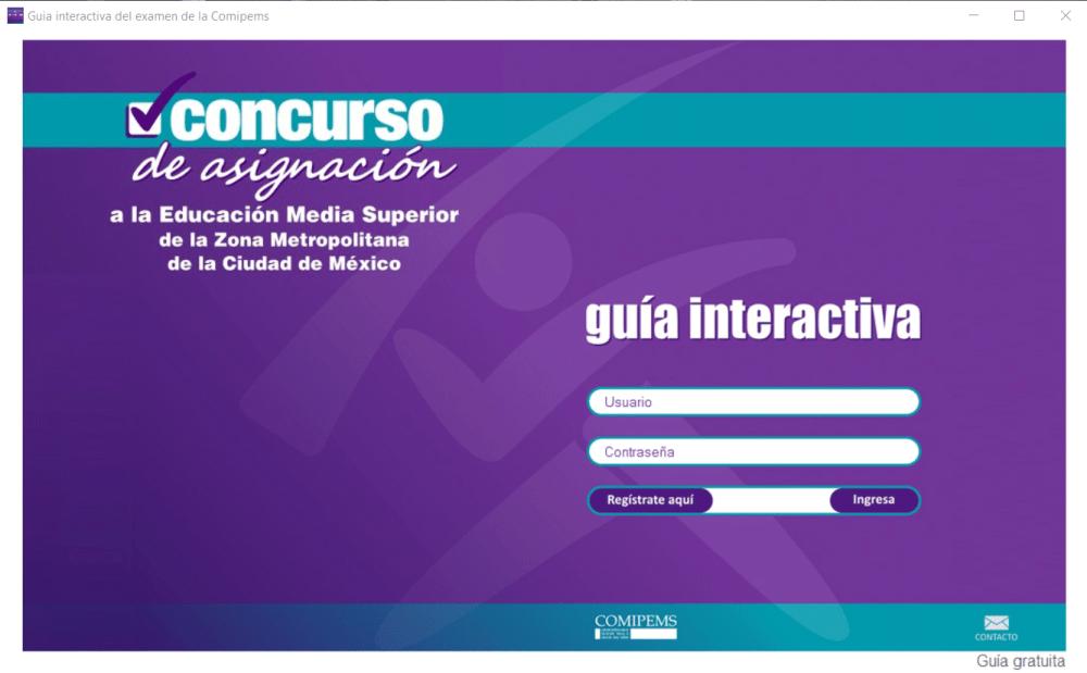 guia interactiva comipems